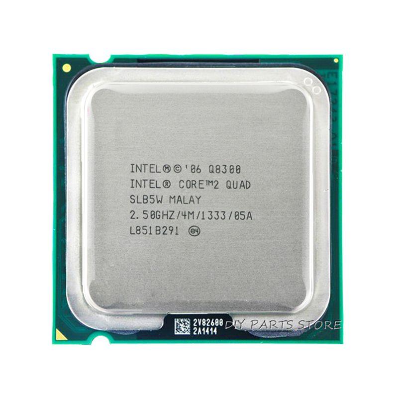 Processeur 4 cœurs INTEL core 2 Quad Q8300 Socket LGA 775CPU 2.5 Ghz/4 M/1333 GHz)