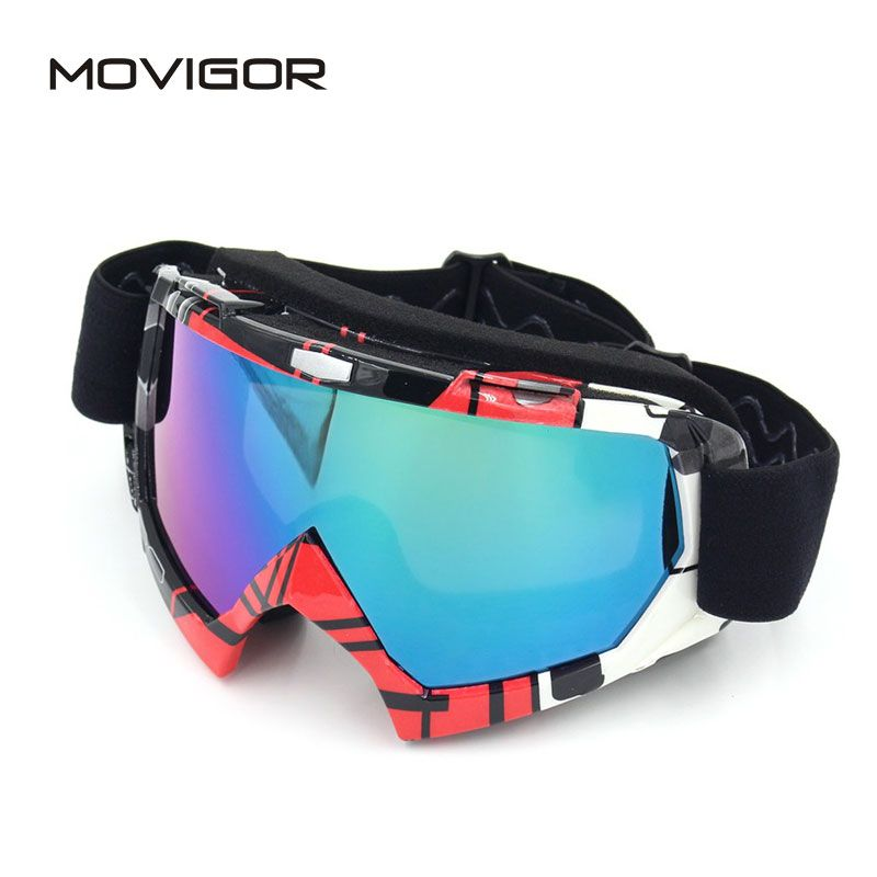 2017 New MOVIGOR Windproof MTB Bicycle Motorcycle Ski Goggles Anti-UV Sponge Road Bike Cycling Glases TPU PC Motocross Eyewear