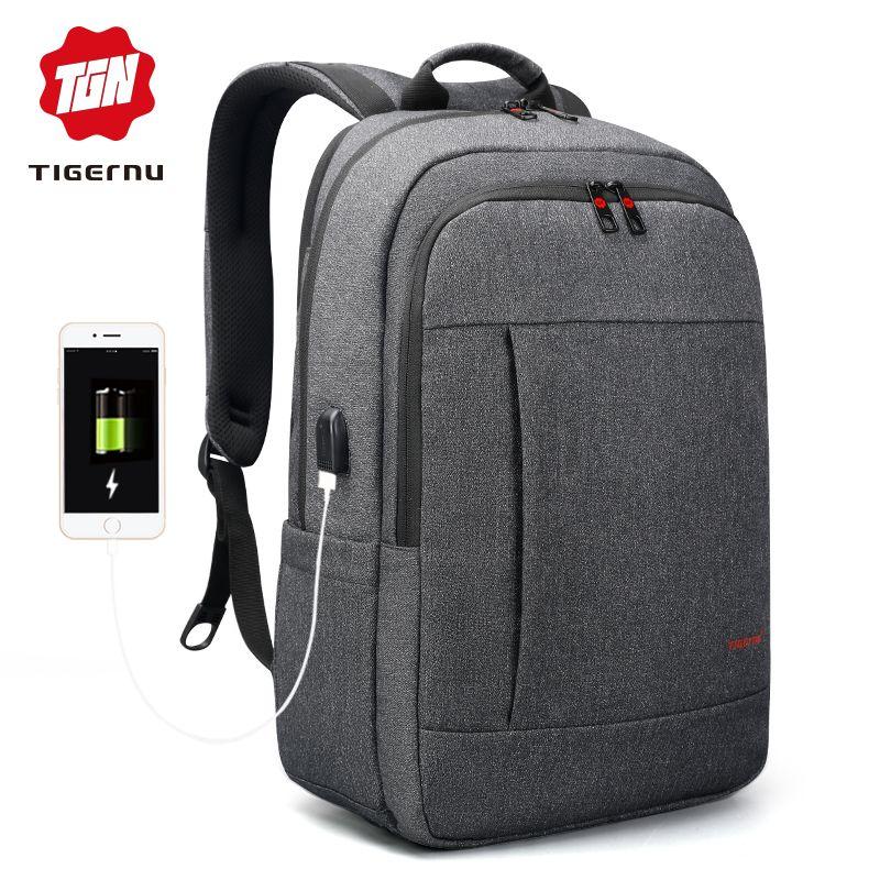 Tigernu Anti thief USB bagpack 15.6 to 17inch laptop backpack for Women Men school Bag for Female Male Travel Mochila feminina