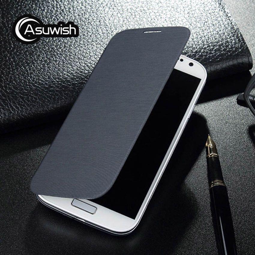 Asuwish Flip-Cover Ledertasche Für Samsung Galaxy S4 GalaxyS4 S 4 5,0 zoll GT I9500 I9505 I9506 GT-I9500 GT-I9505 telefon fällen