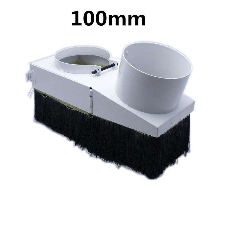 100MM duct collector device 100mm dust collector cover suitable for 3kw water cool spindle dust cover cnc