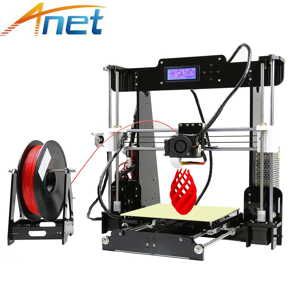 Anet A8 Auto&Normal 3D Printer Reprap I3 Arcylic Big Size High Precision DIY 3D Printer Kit+Filament+SD Card+LCD+Hotbed
