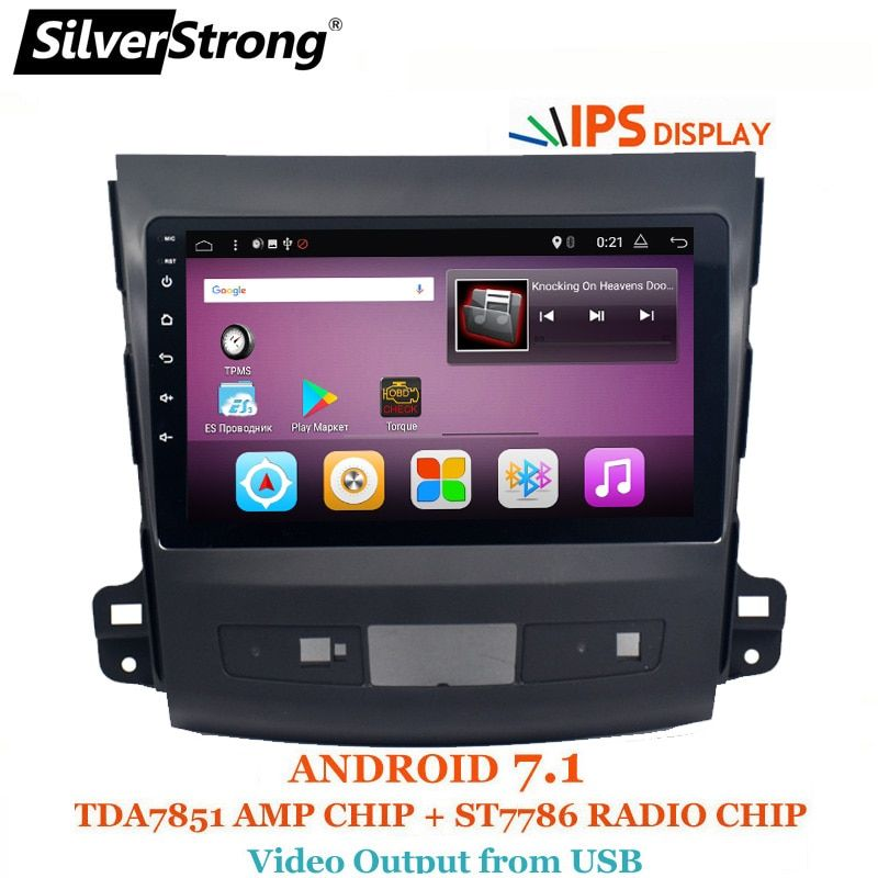 SilverStrong 9inch IPS matrix Android7.1 Car DVD For Mitsubishi Outlander 2007-2012 Android Radio RDS MIRROR-LINK