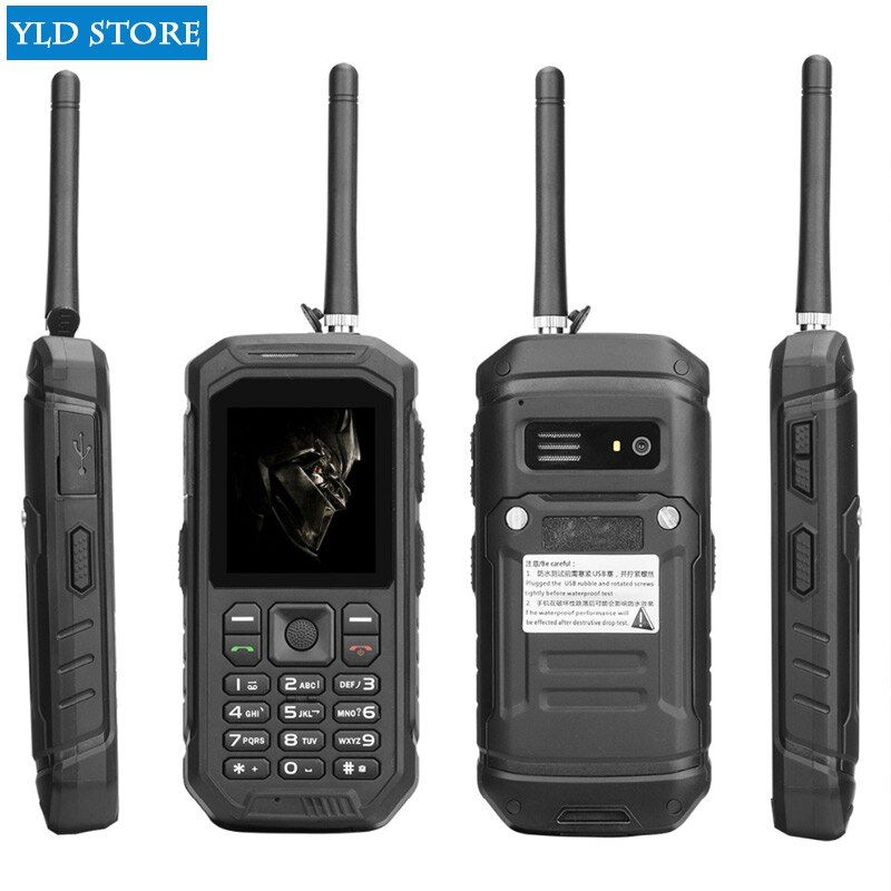 JEASUNG X6 UHF Walkie Talkie IP68 Rugged Mobile Phone waterproof 2500mah 2.4 Inch Dual SIM GSM card with big torch IP67