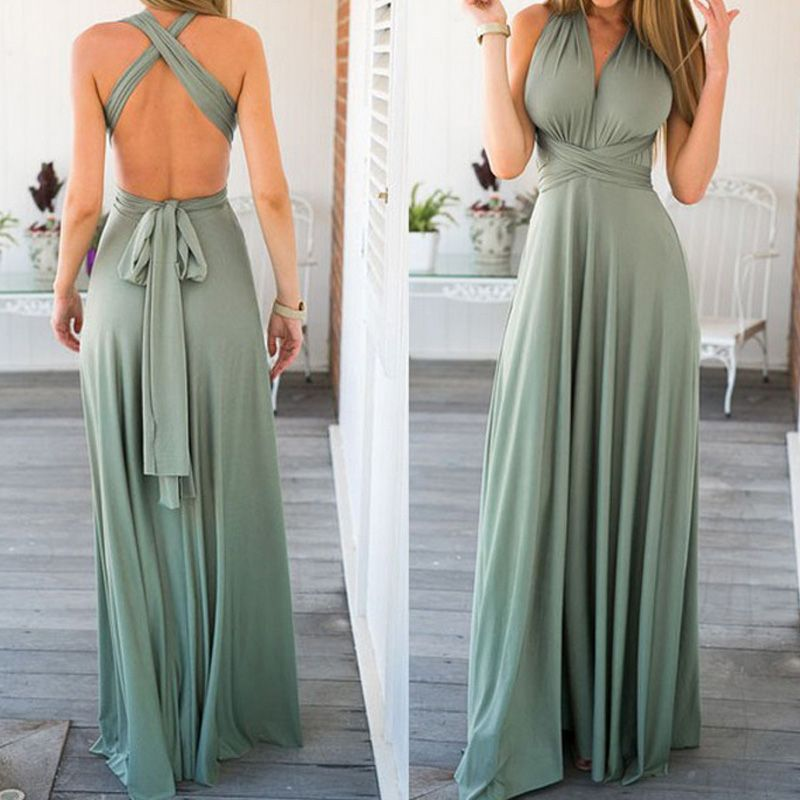 Sexy Women Bandage Maxi <font><b>Dress</b></font> Red Beach Long <font><b>Dress</b></font> Multiway Bridesmaids Convertible Wrap Party <font><b>Dresses</b></font> Robe Longue Femme