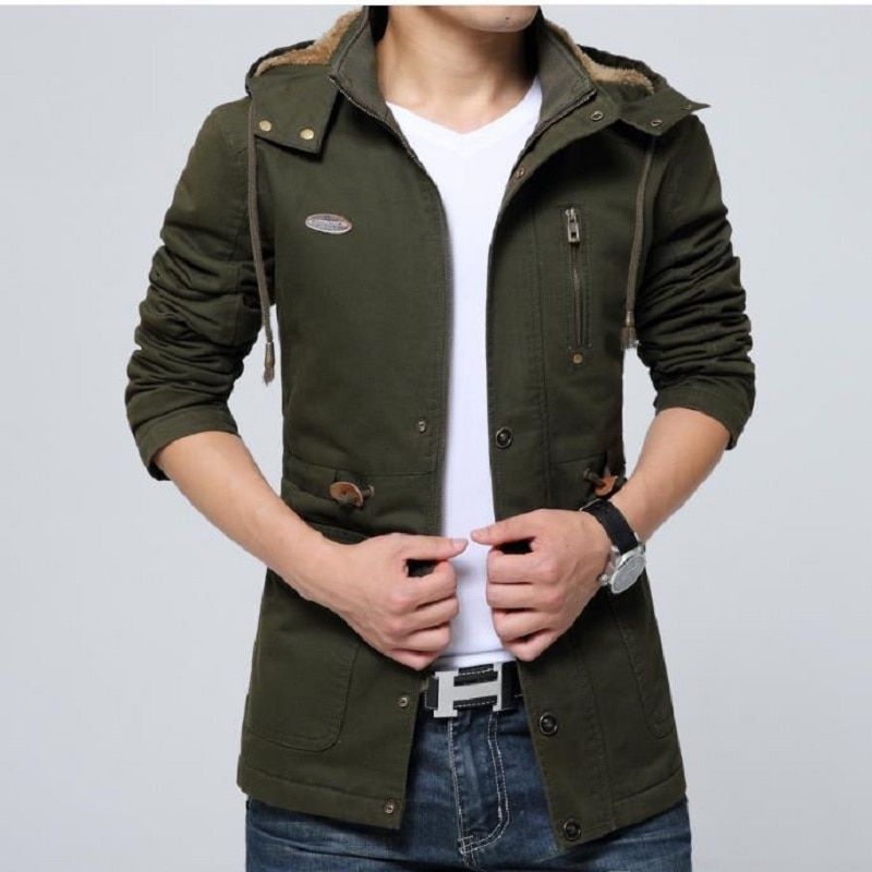 ECTIC blcfy2018 New Men Working Jacket Casual Outer Garment Coat For Man Plus Size Brand Clothing size s--xxl