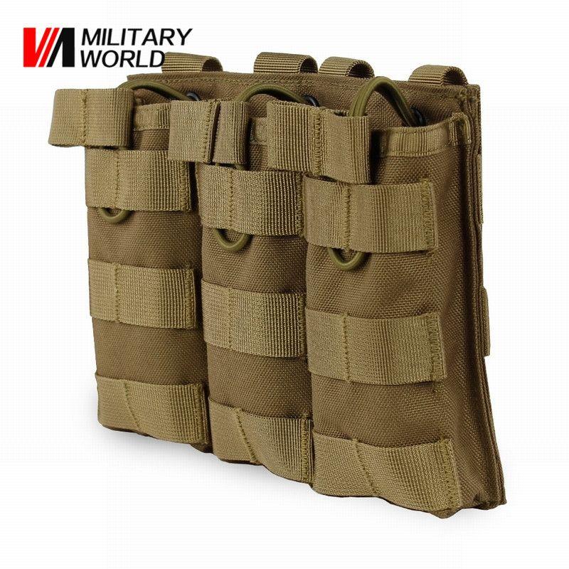 Camouflage Taktische Dreibettzimmer Magazintasche Military Armee MOLLE Weste Gurt Jagd Utility Taschenlampe Taschen Ammo Patrone Clip Bag $