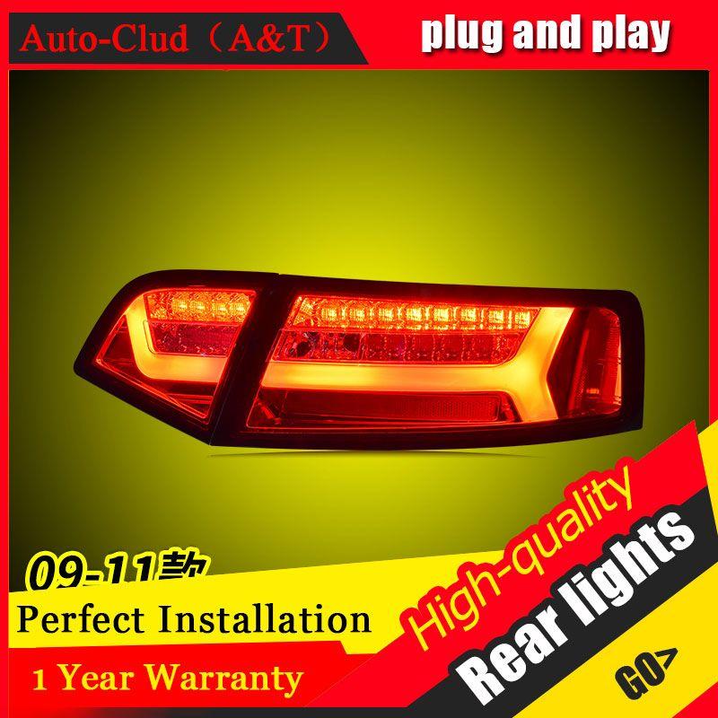 Auto Styling für au di A6L Rückleuchten 2009-2012 für A6L LED Rücklicht Hinten Lampe DRL + Bremse + Park + Signal led-leuchten