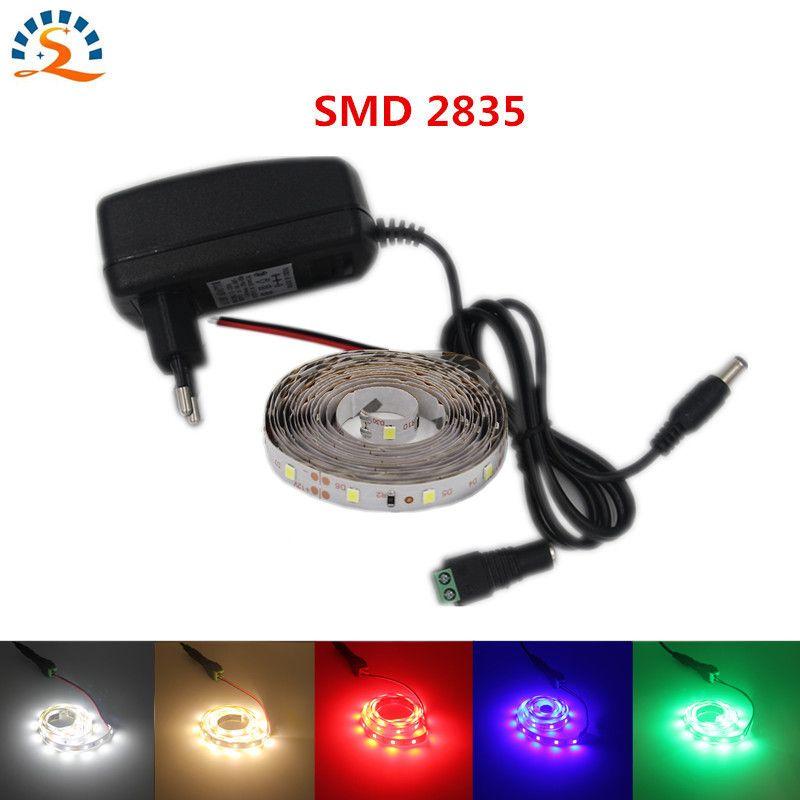5m LED Strip 50cm 1m 2m 5m/pack SMD2835 Set Ultra Bright  Light DC 12V Warm White Blue Red Green LED Ribbon Flexible lamp bulb