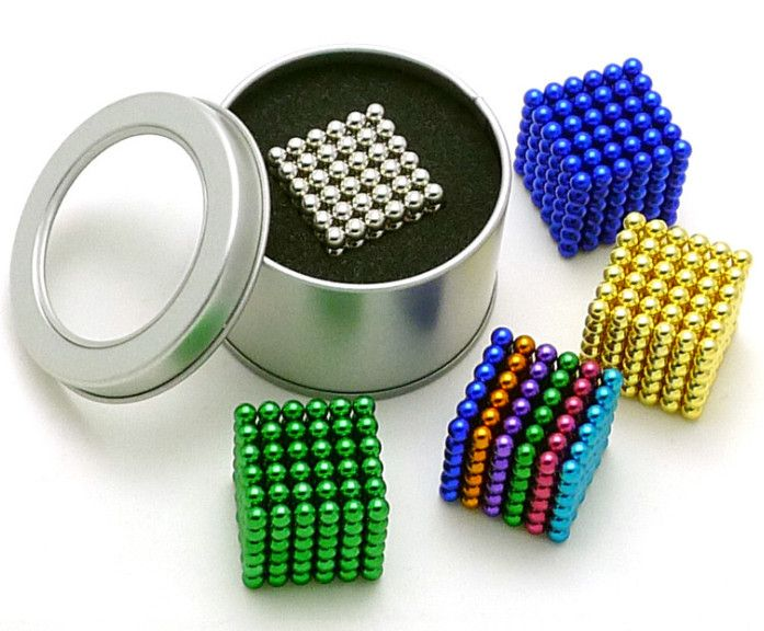 3mm 216pcs Vacuum D4 Metaball Magnetic Ball Magnet Neo Cube Magic Toy New Year Gift Christmas Magic Cube  free shipping