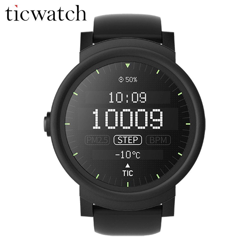 Оригинальный ticwatch e Expres Смарт-часы Android Wear OS mt2601 Dual Core Bluetooth 4.1 WI-FI GPS наручные Спорт IP67 1.4 дюймов