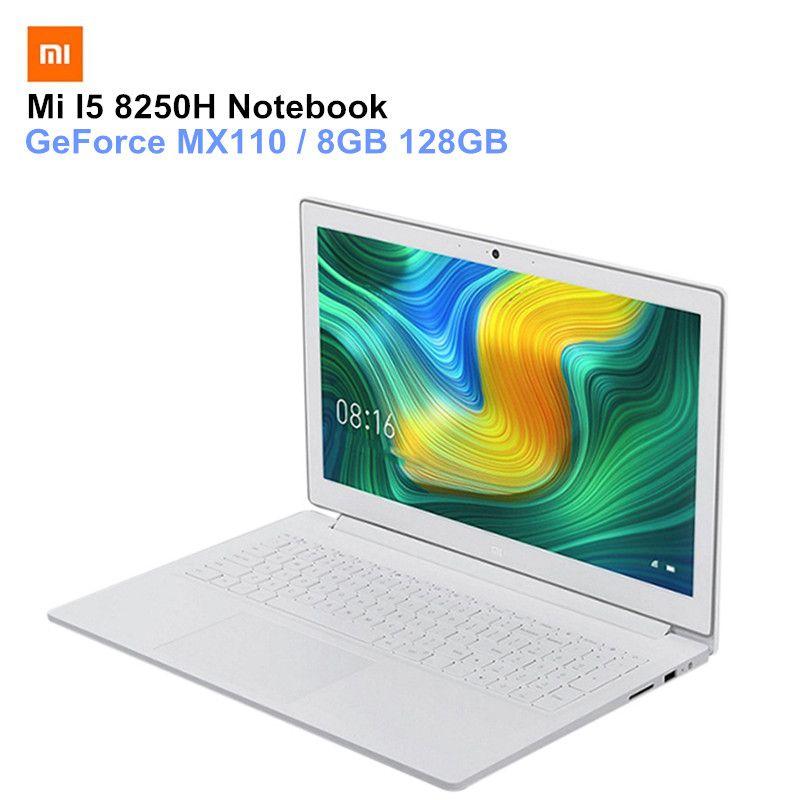 Xiao mi mi Notebook 15,6 zoll Windows 10 Bluetooth PC Intel Core I5-8250H GeForce MX110 Quad Core 8 gb 128 gb laptops