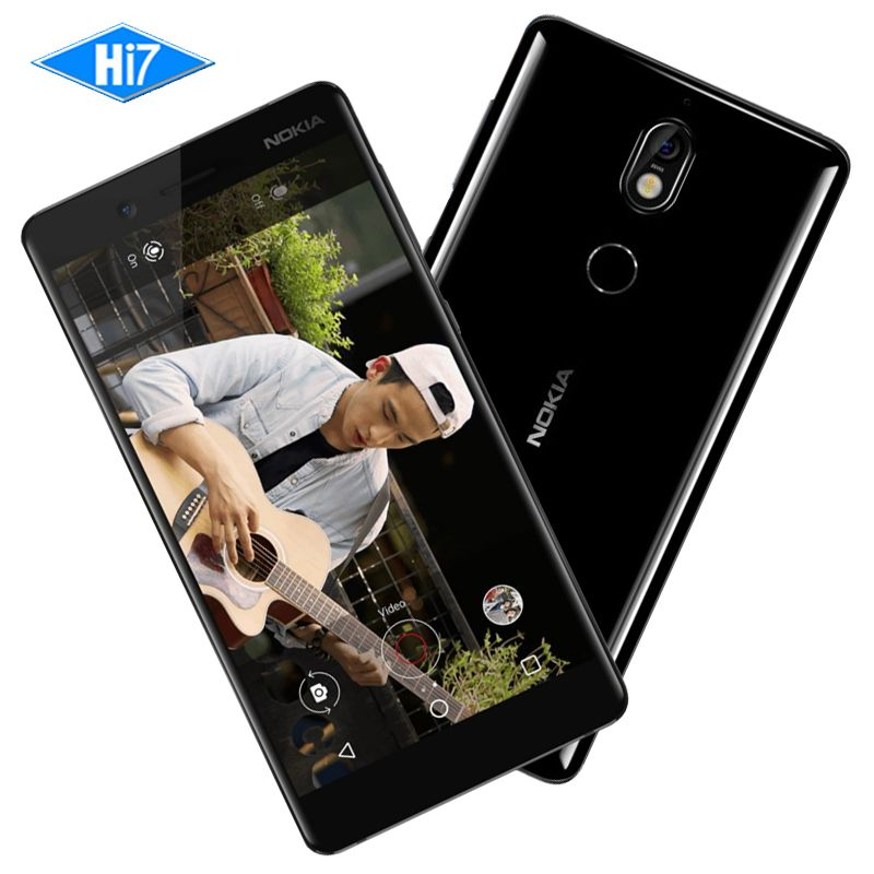 New Original Nokia 7 64G ROM 16MP Camera Dual Sim Cards 5.2inch Octa Core 4G LTE 3000mAh Android 7.1Smart Mobile Phone