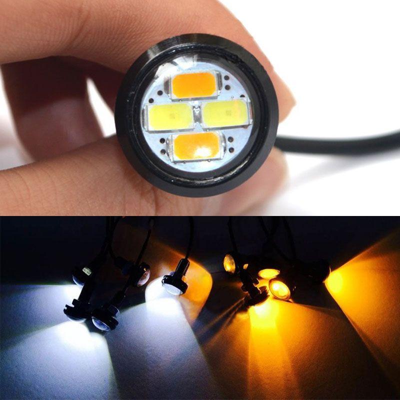 New High Quality 9-16V 10pcs 23mm 5630 External Lights Source LED DRL Eagle Eye Daytime Runing Warning Fog Light Turning Signal