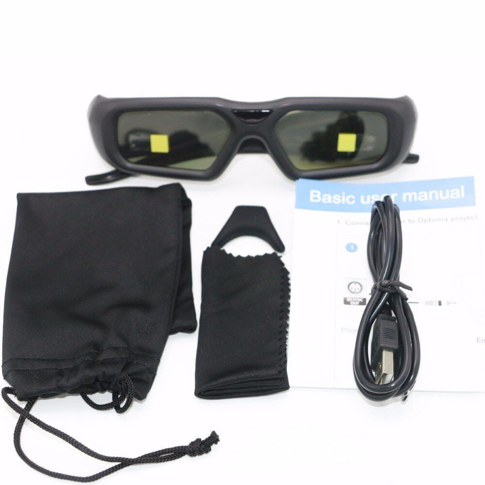 1set Active 2.4G bluetooth RF 3D Shutter Glasses ZF2300 Only For Optoma VESA Projector HD26/3DW1/HD33/HD25/HD25E With 3D SYNC