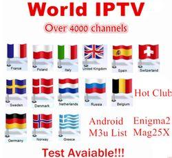IPTV 4000 + chaînes Android TV Box + Europe Suède Arabe Français Italie neo ipsat ROYAUME-UNI Adulte M3U IPTV Enigma2 smart TV Mag tv box