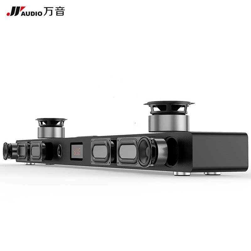 JY AUDIO A9 HIFI Bluetooth Sound Bar 5.1 Home Theater Surround System Wooden Soundbar Speaker for TV Woofer Wireless Wall Cinema