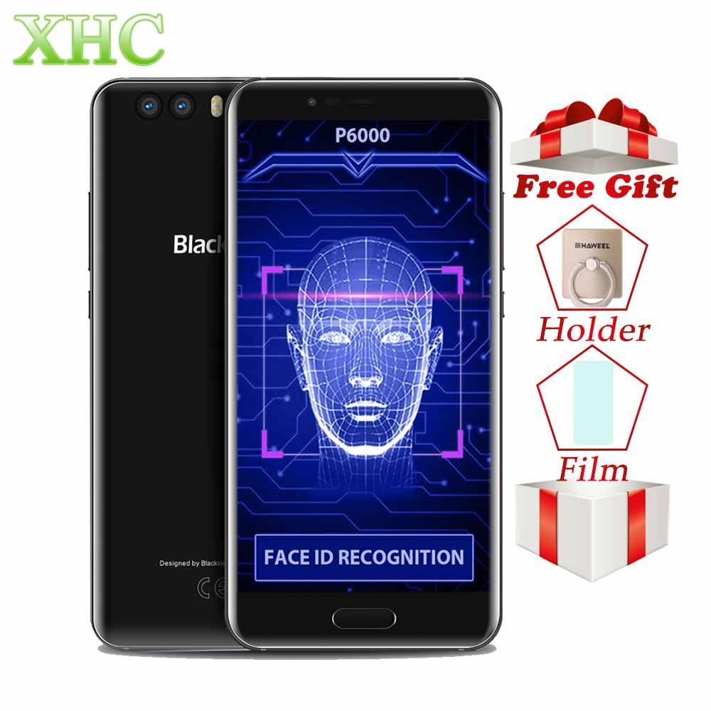 5.5'' Blackview P6000 6GB RAM Face ID Mobile Phone Android 7.1.1 Octa core GPS OTG Fingerprint 21MP 4G LTE Dual SIM Smartphones