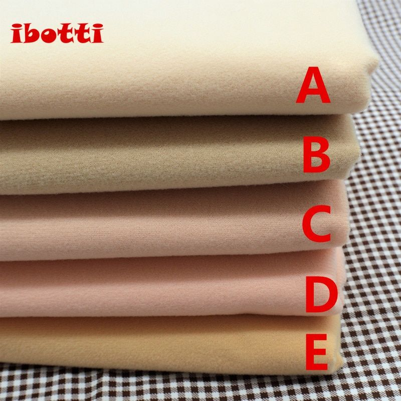 50*145cm Flesh color Diy Doll Skin Textile Fabric Fiber High density Nap Telas Tissus Sewing Patchwork Handmade Costura