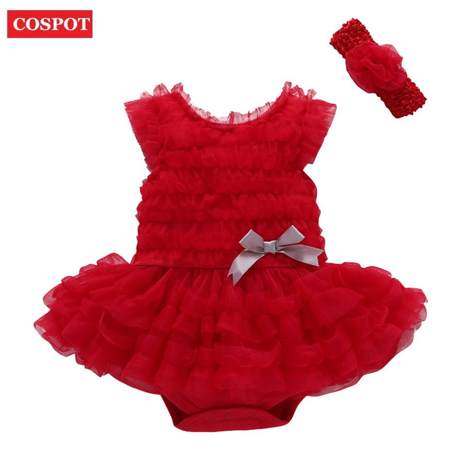 COSPOT Baby Girl Summer Dress 1st 2nd Birthday Baptism Dress Bebe Girls Christening Princess Tutu Dresses Vestido Infantil D18