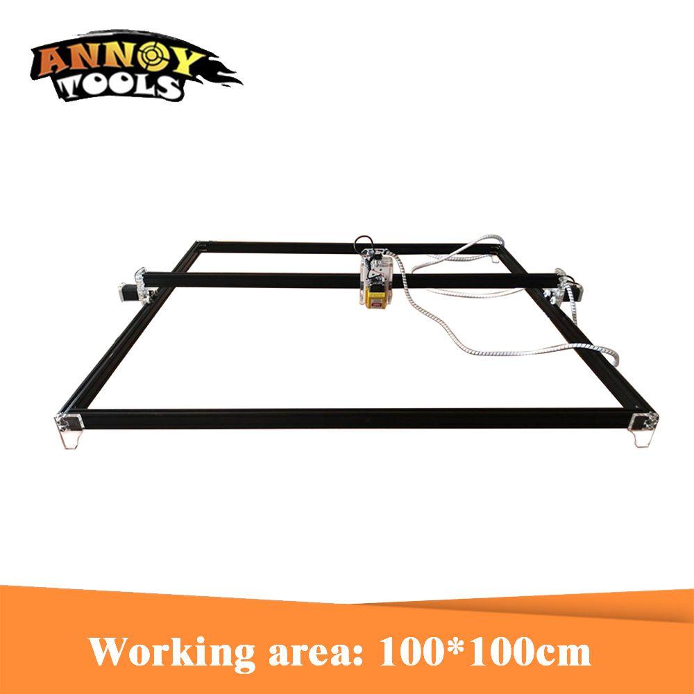 15 w 15000 mW Laser Stecher, Laser cutter, 100 cm * 100 cm arbeits bereich Laser Gravieren Maschine mit TTL/PWM Laser schneiden maschine
