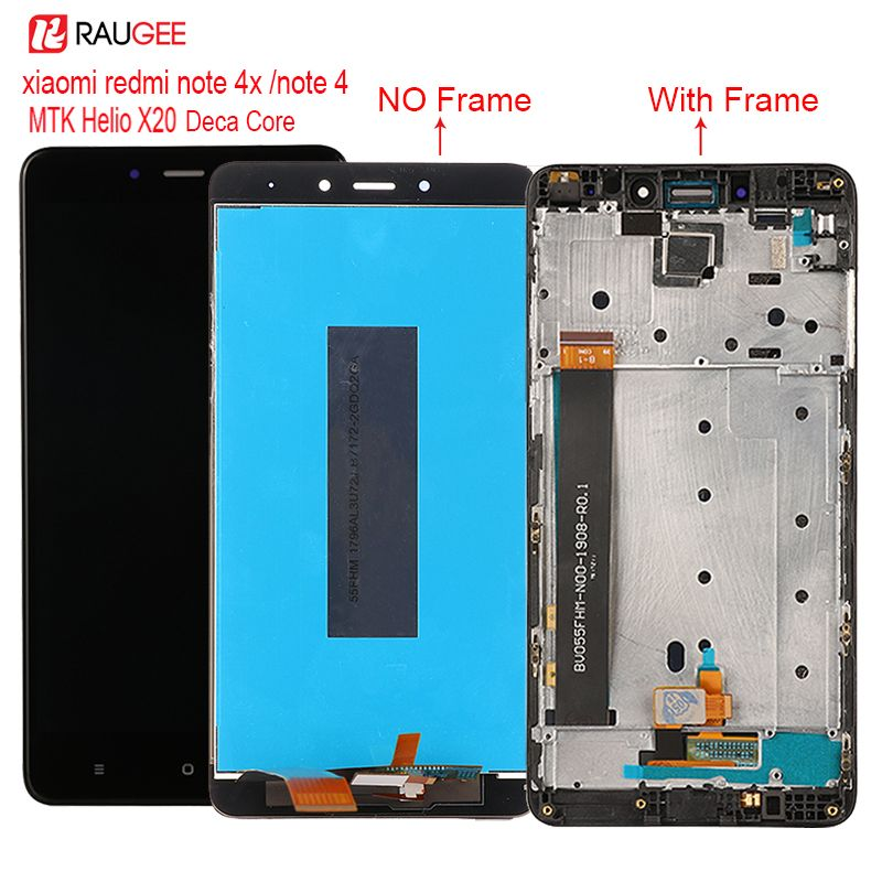 For Xiaomi Redmi Note 4 Note 4X MTK Helio X20 LCD Display Touch Screen Replacement for Redmi Note 4X Deca Core screen Display