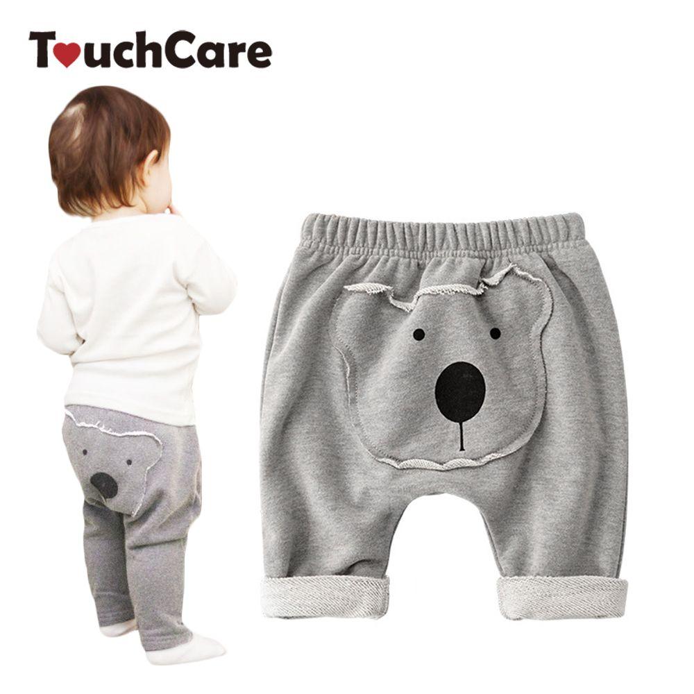 Touchcare для новорожденных на осень для маленьких мальчиков штаны для девочек Медведь Детские PP штаны младенческой вырос Серый Цвет Детские ...