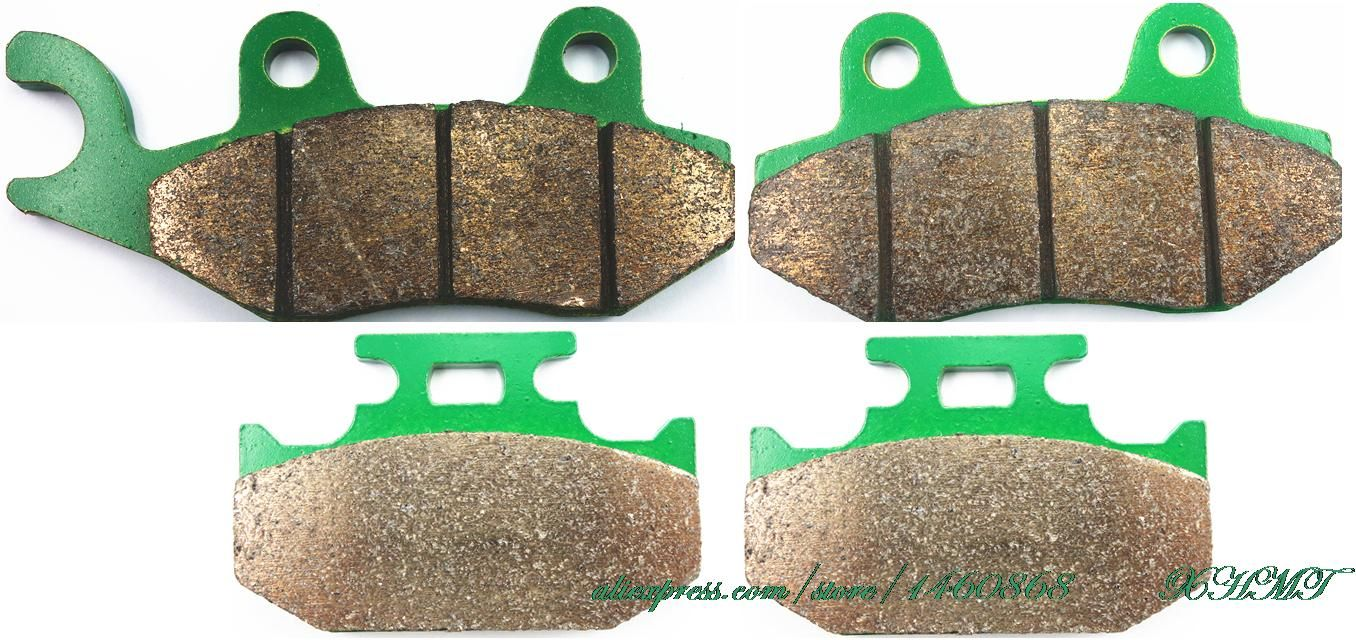 Brake Pad Set for KAWASAKI KDX200 KDX 200 SR 1990 1991 1992 1993 / KDX250 KDX 250 SR-D 91-93/ KLX250 KLX 250 1993 &up