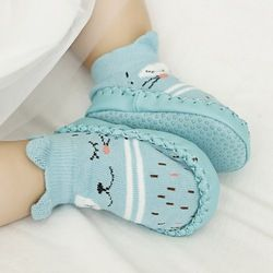 Zapatos de bebé primer caminante infantil de dibujos animados Calcetines niños calcetines del piso interior antideslizante calcetines de bebé mocasines zapatillas