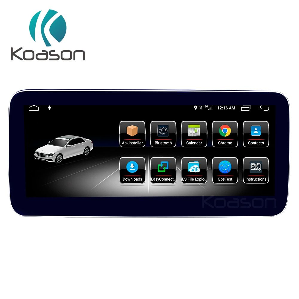 Koason Android 8.1 10,25 zoll touch Screen Auto GPS-Navigation für BENZ C klasse GLC 2015 2016 2017 2018 Fahrzeug Multimedia player