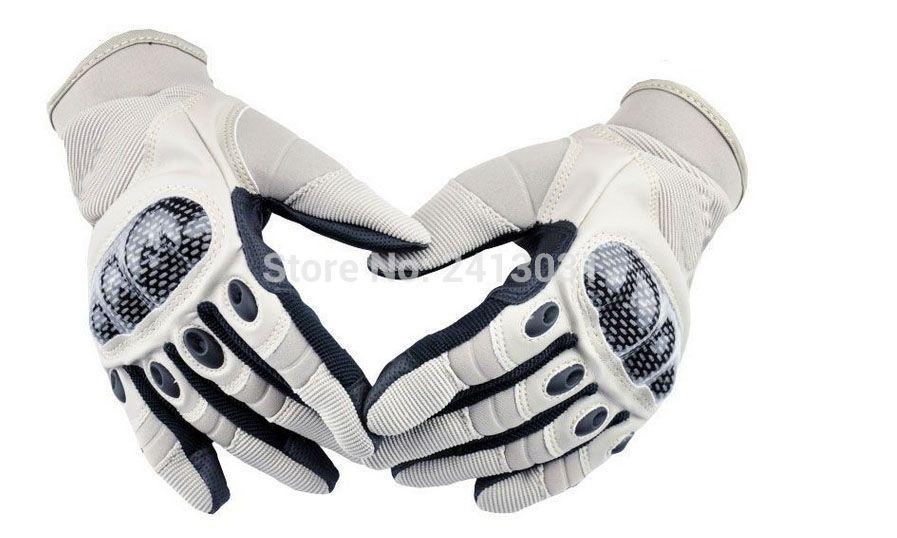 ACOOLBAR Carbon Fiber Full Tactical Gloves Outdoor Ride Gloves Tortoise Shell Gloves Luvas Motociclismo