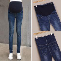 Maman denim ensemble pantalon grossesse Femmes Jeans crayon Enceinte Prop Pantalon Vêtements Pour Vêtements de maternité plus la taille embarazada