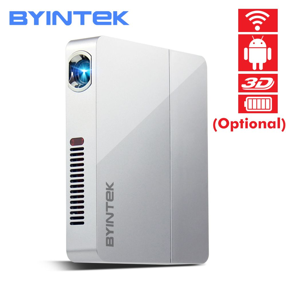 BYINTEK UFO R9 Smart Android WIFI Video Micro Tragbare DLP Mini LED 3D Projektor für Volle HD 1080 P Hause theater Business Büro