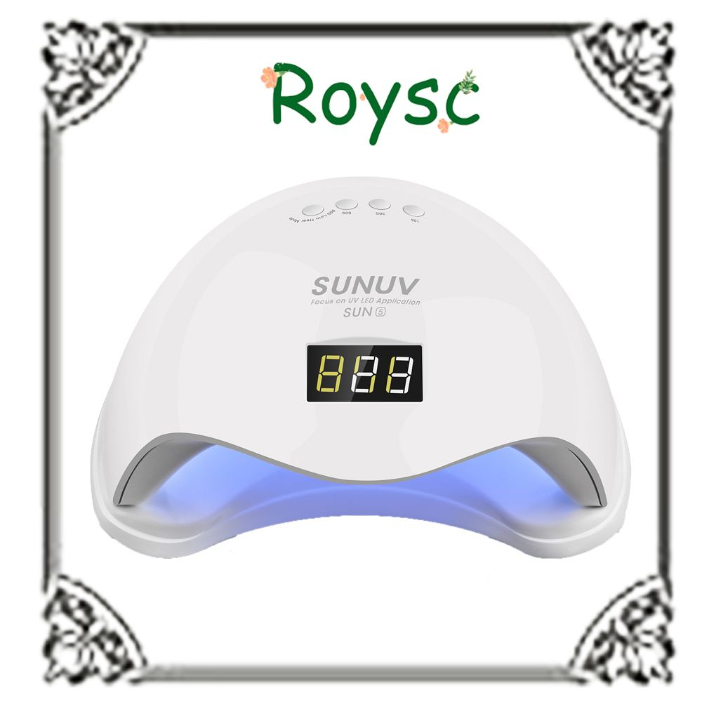 Sun5 UV Led Nail Lamp 48W with LCD Timer and Bottom Makeup Nail Dryer Polish Machine for Curing Nail Art Tools