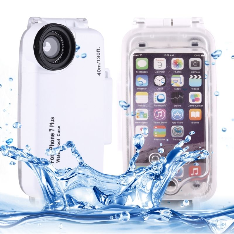 For iPhone 7 Plus Case Water Proof Underwater 40m Waterproof Diving Housing PC + ABS Protective Case For iPhone 6s Plus 7 Coque