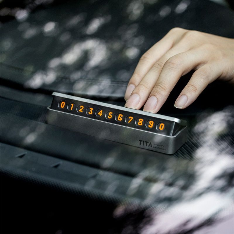 New Upscale Car Sticker Car Temporary Parking Card  Drawer style florescent Phone Number Card easy to disassemble replace