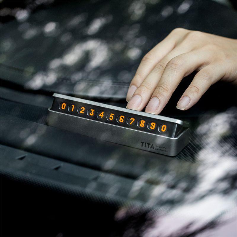 Nouveau Haut de Gamme De Voiture Autocollant De Voiture Carte de Stationnement Temporaire Tiroir style fluorescent Numéro de Téléphone Carte facile à démonter remplacer