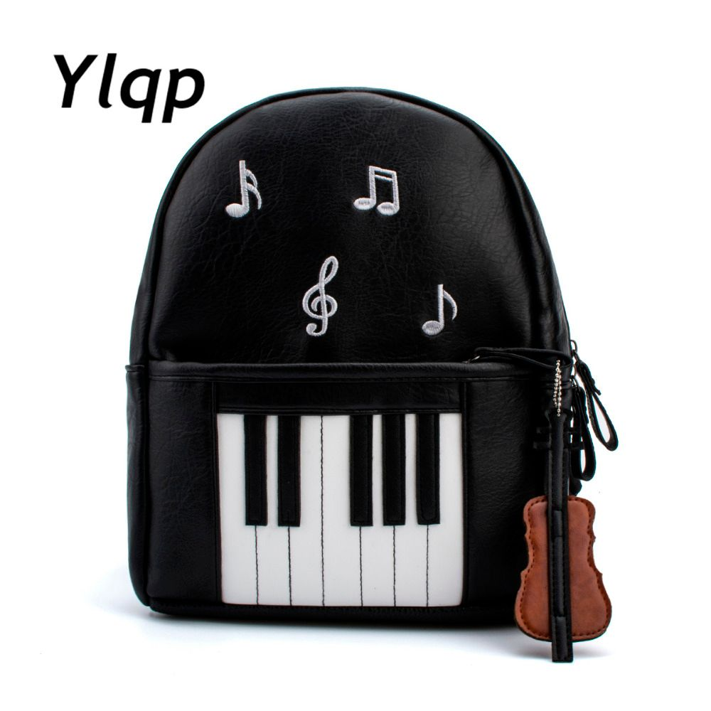 2017 New Fashion Piano Musical Printing Backpack Casual Backpacks for Teenage Girls Travel Students School Rucksack Mochilas