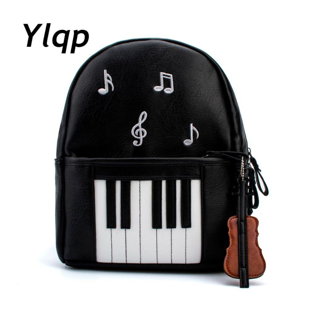 2017 Nueva Moda de Piano Musical de Impresión Mochila Informal Mochilas para Adolescentes Niñas Mochila de Viaje de la Escuela Los Estudiantes Mochilas