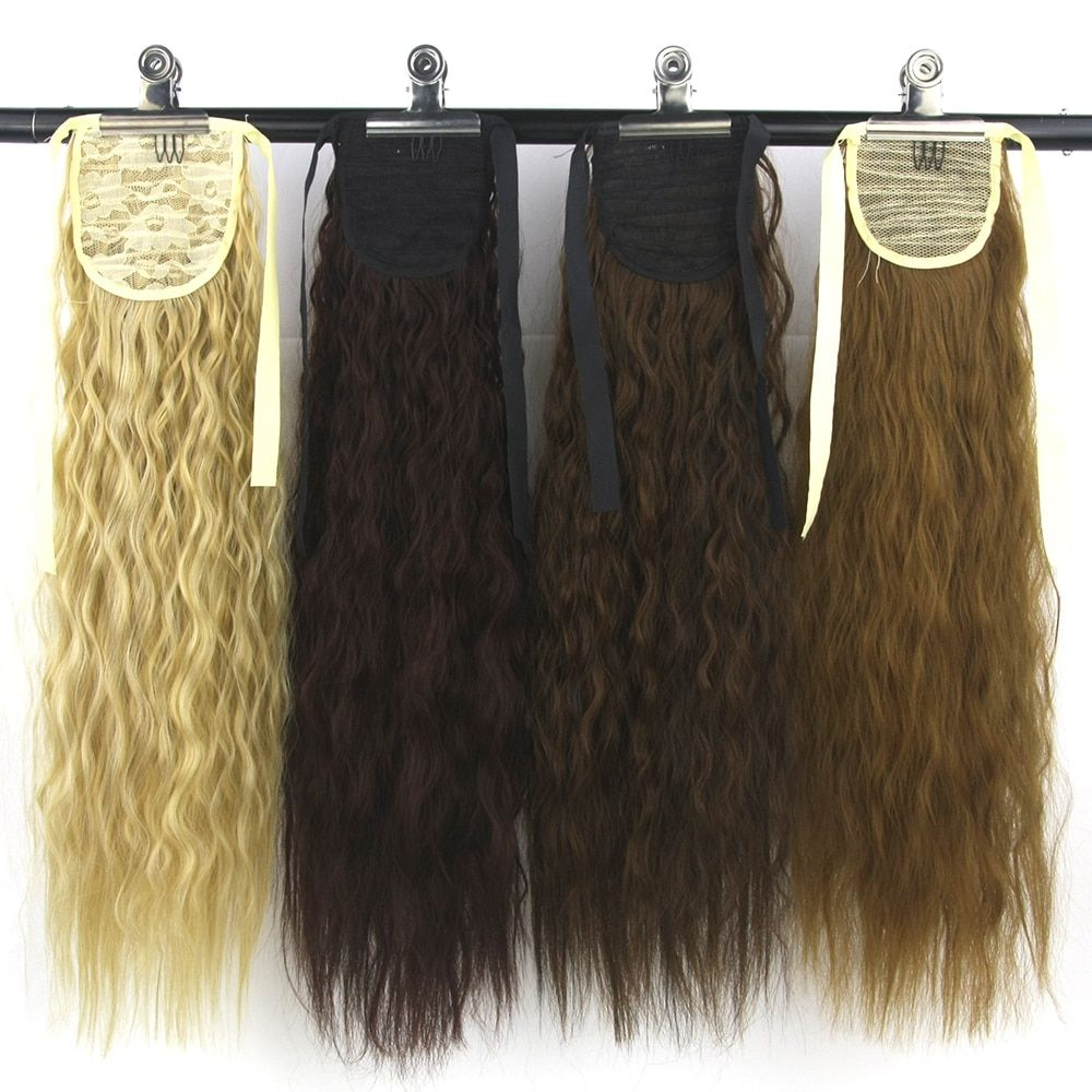 Soowee High Temperature Fiber Synthetic Afro Kinky Hair Pony Tail Hairpieces Drawstring Ponytails Hair Extension