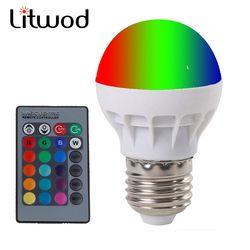 Litwod Z20 E27 LED RGB Sihir Lampu Lampu 3 W AC85-265V 220 V RGB LED Ringan Spotlight + IR- afstandsbediening Controle dan Putih Putih
