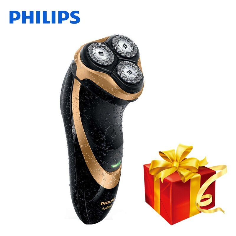 100% Original Philips Professional Electric Shaver AT798 Rotary Rechargeable For Men With Triple Floating Blades Wet&Dry Shaving