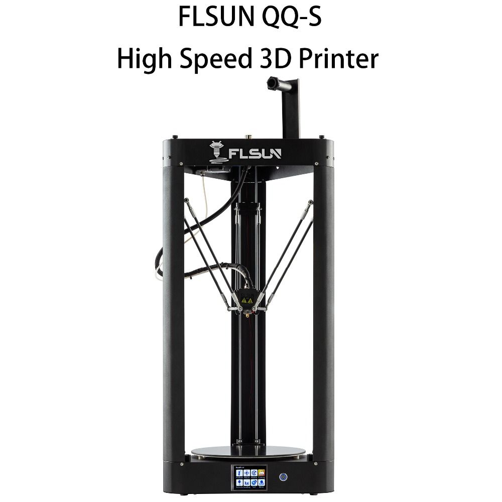 Flsun-QQ-S 3d Drucker 95% Pre-montage Auto-leveling High Speed Glas-keramik plattform 3d Drucker touchscreen Wifi Filament Kit