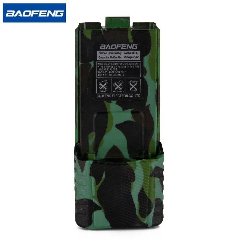 Baofeng UV-5R Camouflage Batterie Talkie Walkie BL-5 Étendue 3800 mAh 7.4 V Li ion Batterie Rechargeable Batterie pour BF-F8 Radio