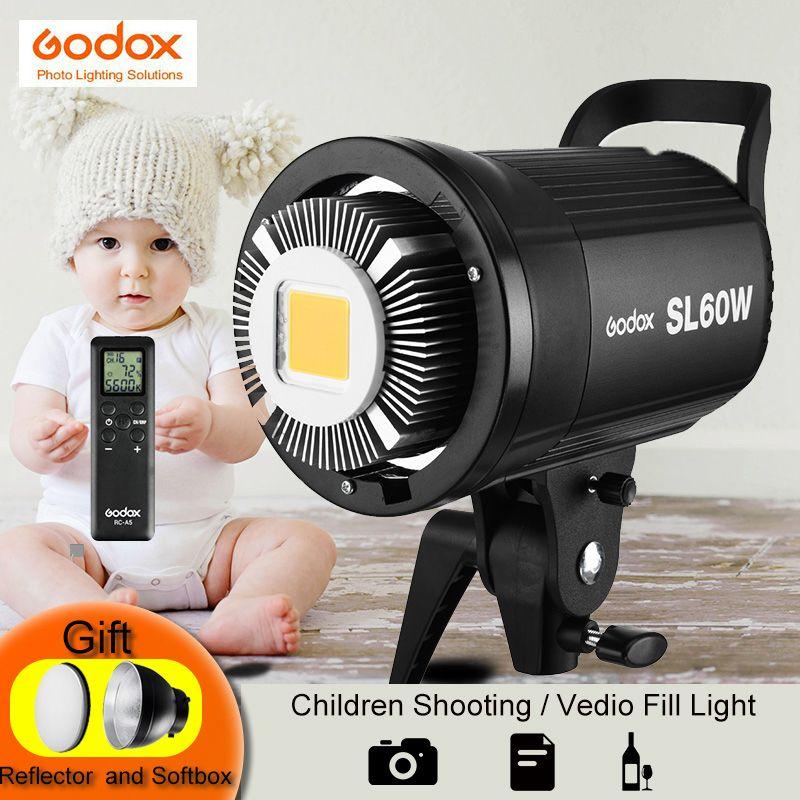 Godox SL-60W Blanc Version Vidéo LED Lumière Lampe Continu 5600 k 60 w Bowens Mont Flash Stroboscopique pour Studio de Photographie enregistrement