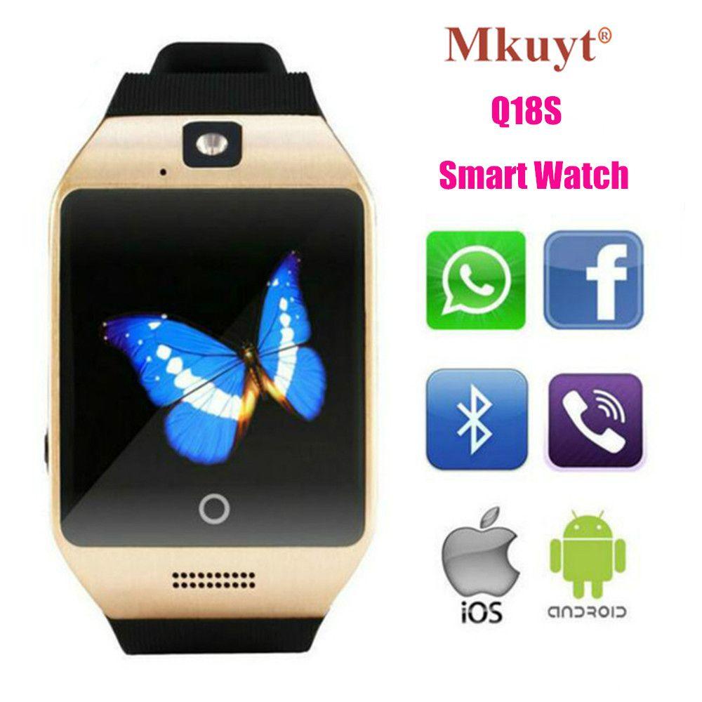 MKUYT Q18S Bluetooth Montres Intelligentes avec Caméra et SIM TF Fente Pour carte Montres Compatible avec Android iPhone pour Femmes Hommes enfants
