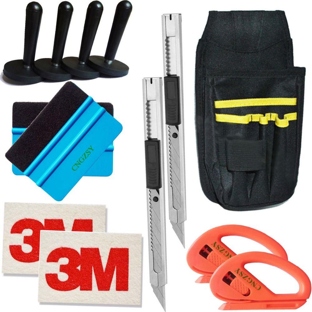 magnet holder 3M wool art knife tools bag cutter Bubble Window Wrap Film Squeegee Scraper Car Styling Sticker Accessories K22