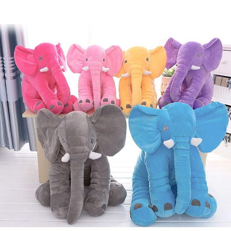 33/40/60/72 cm Elephant Toy 6 Colors Option Cushion Pillow