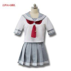 Japanese Anime Love Live Sunshine Cosplay Costume Takami Chika Girls Sailor Uniforms Love Live Aqours School Uniforms