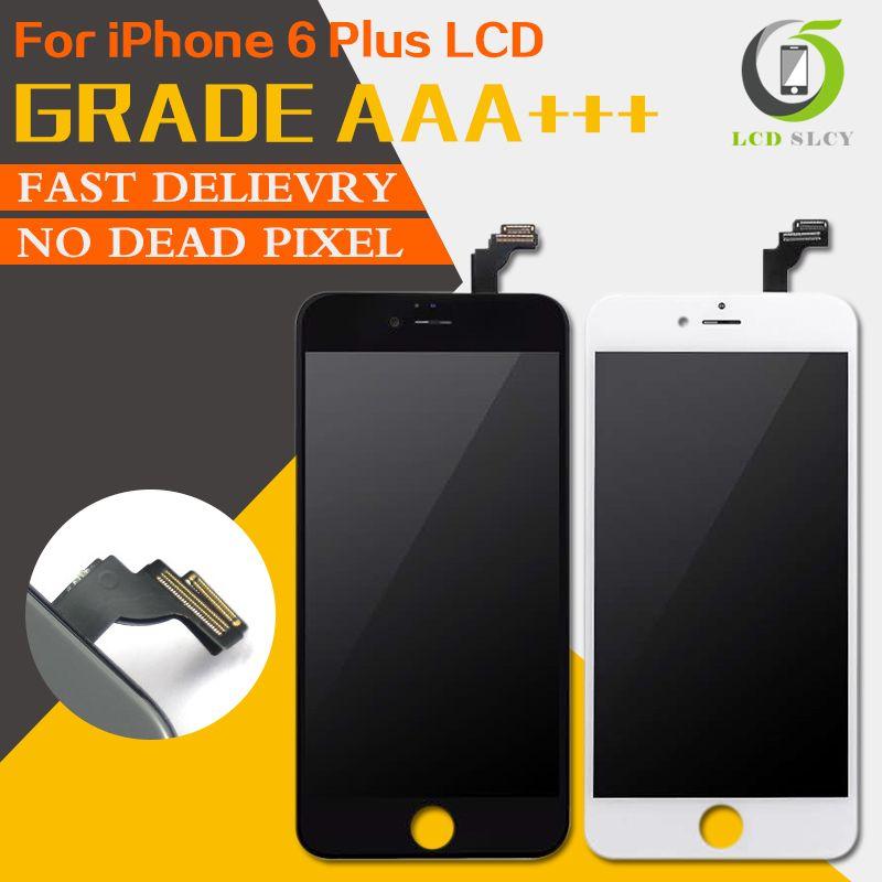 10 Pcs/Lot Free Shopping 100% PAS de Dead Pixel Qualité AAA Pour l'iphone 6 Plus LCD Affichage à L'écran Tactile Digitizer Assemblée